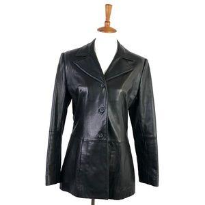 Lambskin Womens Large Leather Jacket Long Sleeve